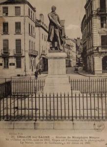 Chalon_évolution Statue de Nicéphore Niépce. 1