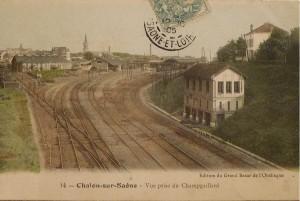 Chalon Gare Vue prise du Champgaillard. 17