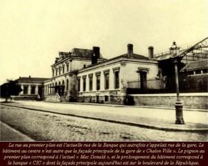 Gare Chalon-Obélisque PLM construit en 1848.