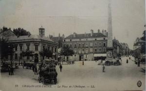 Chalon_Place de l'obélisque.