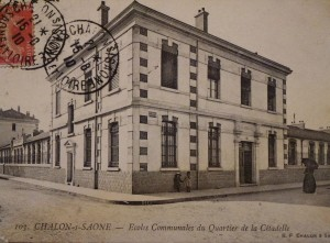 Chalon_Ecole de la Citadelle 2. Oblitéré du 15/08/1910.