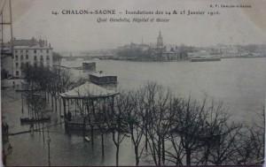 Chalon_inondation des 24 et 25 janvier 1910.